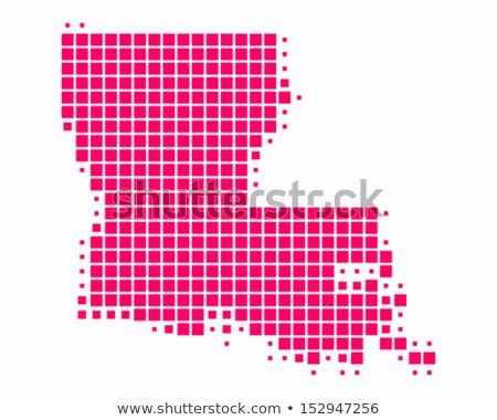 térkép · Louisiana · utazás · piros · Amerika · USA - stock fotó © istanbul2009