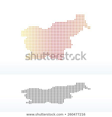 Térkép köztársaság Szlovénia pont minta vektor Stock fotó © Istanbul2009