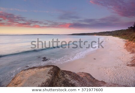 sunrise nelson beach jervis bay australia stock photo © lovleah
