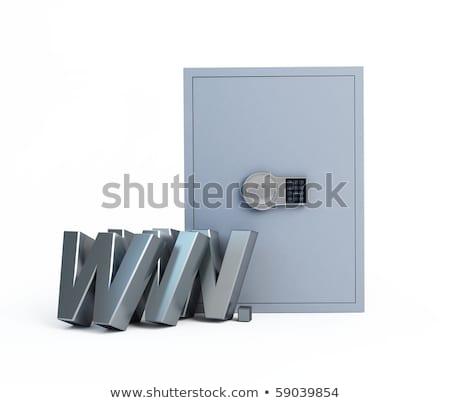 Zwarty bezpieczne bezpieczne drzwi metal polu Zdjęcia stock © ozaiachin