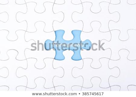 test   white word on blue puzzles stock photo © tashatuvango