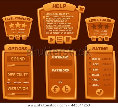 vector template of casual game interface stock photo © elisanth
