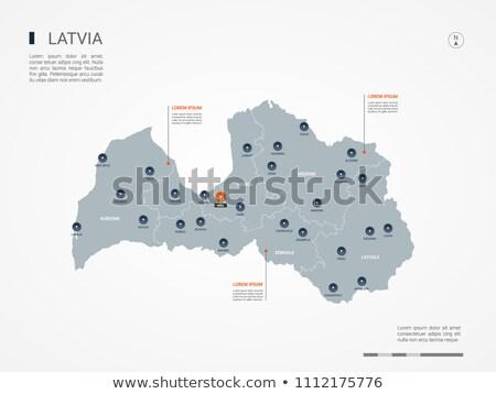 Narancs gomb kép térképek Lettország űrlap Stock fotó © mayboro