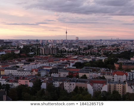 Berlin cityscape early in the evening Stock photo © AndreyKr