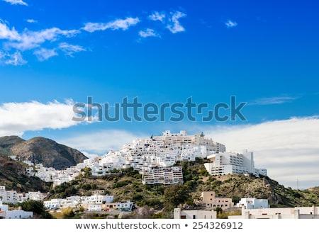 Blanco mediterráneo pueblo España flores primavera Foto stock © lunamarina