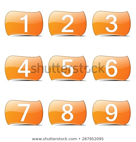 Numbers Counting Orange Vector ButtonIcon Design Set Stock photo © rizwanali3d
