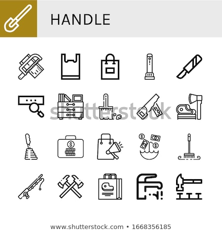 Used ax with plastic handle Stock photo © Taigi