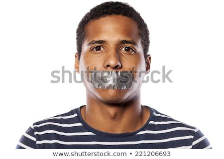 男 · 口 · 肖像 · 顔 · ヘルプ - ストックフォト © stevanovicigor