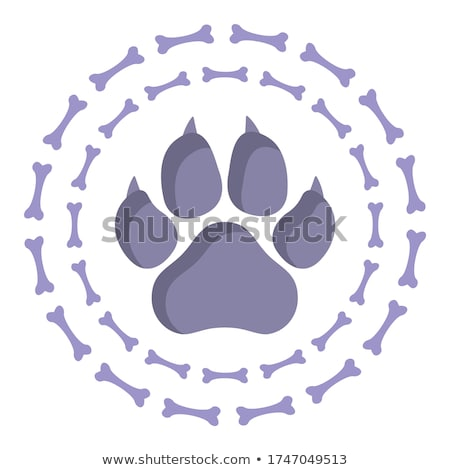 Perro huesos círculo símbolo diseno signo Foto stock © blaskorizov