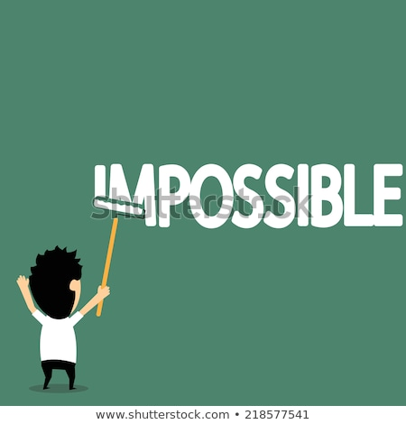 Impossible word painting on wall Stock photo © fuzzbones0