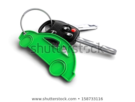 Car keys with orange passenger vehicle icon as keyring. Stock photo © crashtackle