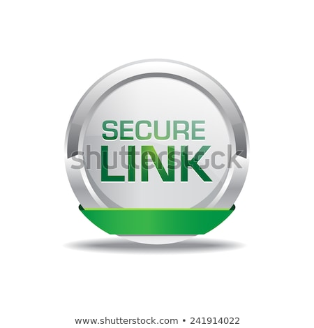 Secure Link Glossy Shiny Circular Vector Button Stock photo © rizwanali3d