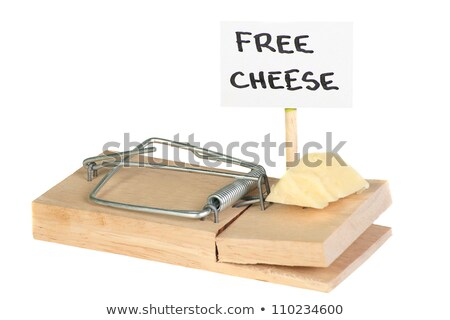 Free cheese in mousetrap Stock photo © orensila