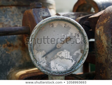 Old rusty brocken indicator Stock photo © mrakor