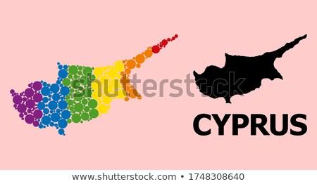キプロス ゲイ 地図 国 誇り フラグ ストックフォト © tony4urban