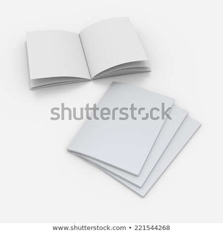 Empty paper booklet, close up view Stock photo © cherezoff