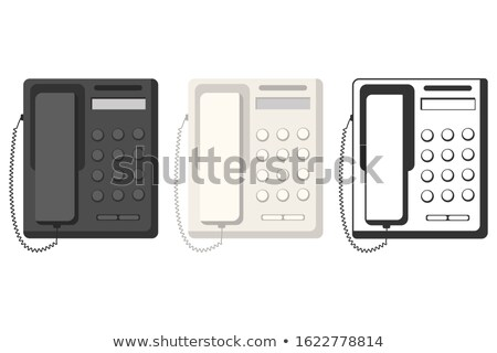 fax and telephone from top on white Stock photo © Paha_L