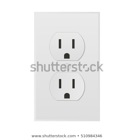 white electric wall outlet receptacle Stock photo © shutswis