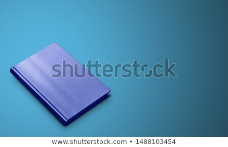 Blue closed hardcover book. Three-dimensional book Stock photo © orensila