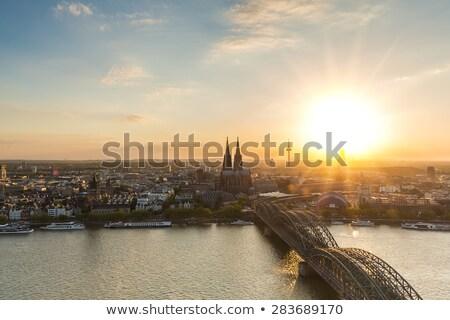 skyline · koepel · brug · blauwe · hemel · hemel - stockfoto © meinzahn