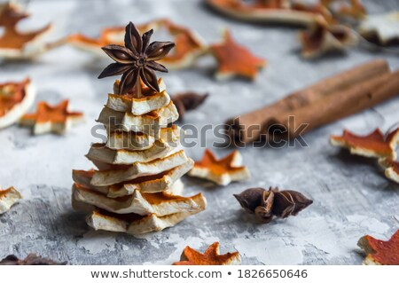 Laranja decoração topo branco estrela Foto stock © funix