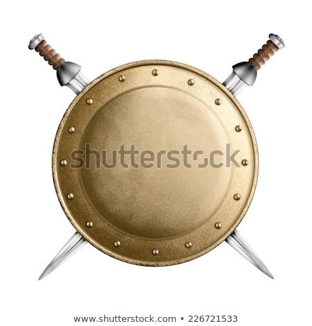 Gladiator zwaard geïsoleerd witte man achtergrond Stockfoto © Elnur