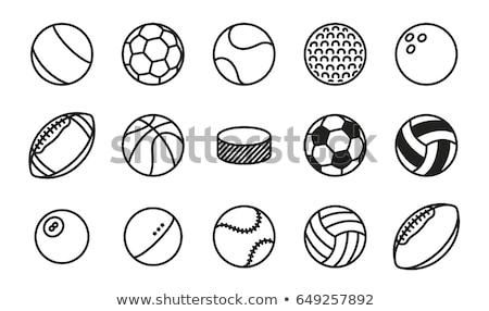 sportok · golyók · ikon · szett · egyszerűen · ikonok · háló - stock fotó © ayaxmr