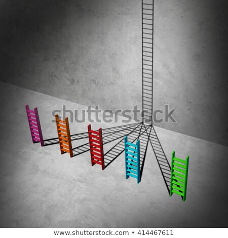 Siker üzlet csoport rövid sokoldalú árnyékok Stock fotó © Lightsource