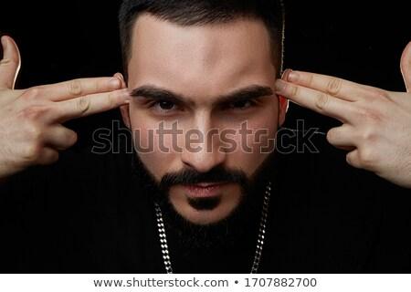 Facet ciemności portret elegancki biznesmen patrząc Zdjęcia stock © pressmaster