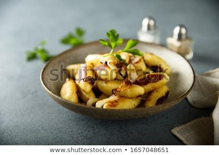 Aardappel bijgerecht voedsel plaat plantaardige Stockfoto © Digifoodstock