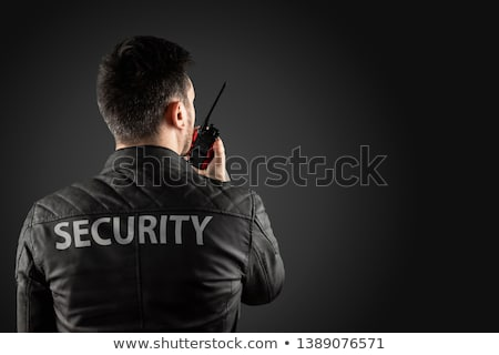 security guard using walkie talkie stock photo © andreypopov