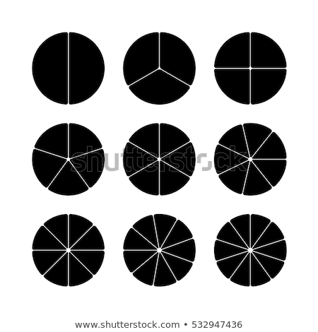 Circle divided into parts. Business logo concept template for tr Stock photo © popaukropa