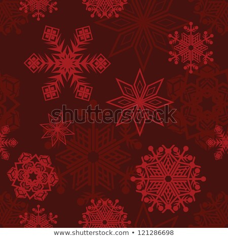 Christmas Snowflakes - On a Burgundy Background Stock photo © fenton