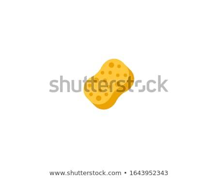 губки домашнее хозяйство очистки пена фон красный Сток-фото © racoolstudio