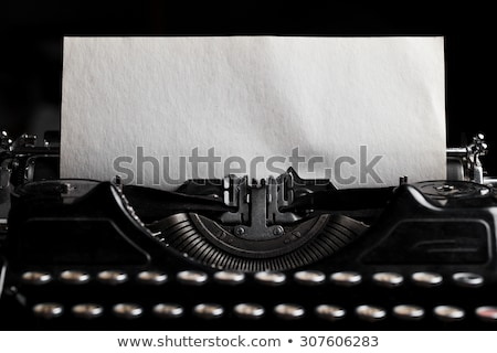 antik · írógép · elöl · kilátás · papír · lap - stock fotó © bluering