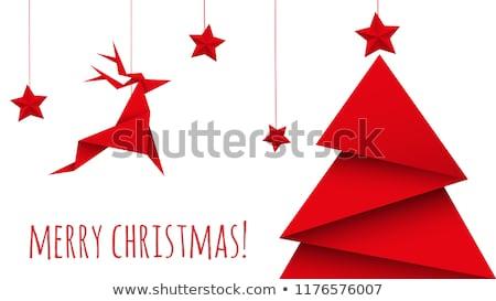 Рождества оригами дерево современных аннотация Сток-фото © Genestro