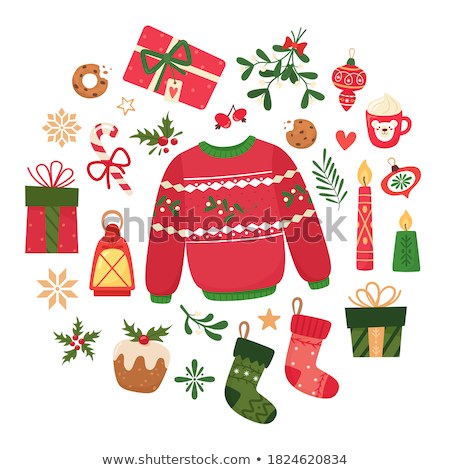 Merry christmas and new year greeting card, vector illustration Stock photo © carodi