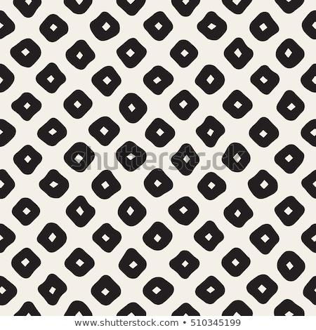 Vector Seamless Black and White Hand Drawn Diagonal Rectangles Pattern Stock photo © CreatorsClub