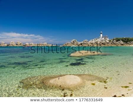 Vuurtoren oceaan reizen Europa rotsen boten Stockfoto © tilo