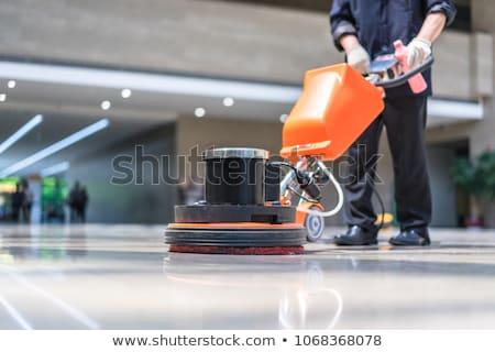 Férfi takarítás padló illusztráció munka háttér Stock fotó © bluering