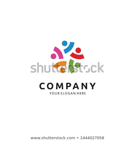 Trabalho em equipe logotipo design de logotipo 10 alto qualidade Foto stock © sdCrea