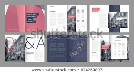 abstract business leaflet or brochure template design with geome Stock photo © SArts