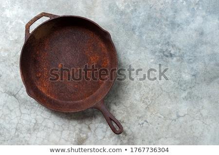 ヴィンテージ さびた 鋳鉄 孤立した 白 食品 ストックフォト © Taigi