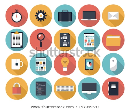 tablet computer flat icon stock photo © creativika