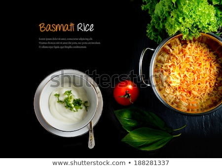 frango · arroz · pão · carne · interior · nozes - foto stock © monkey_business