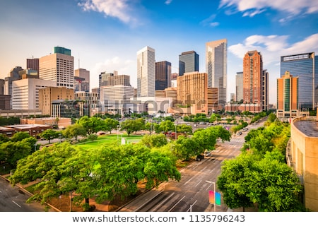Stockfoto: Centrum · Houston · Texas · stadsgezicht · skyline · mooie