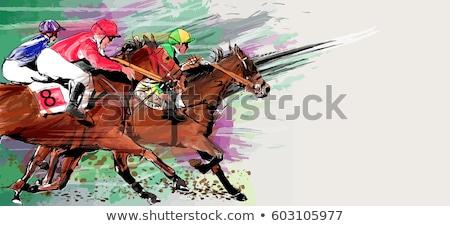 Vectorized Ink Sketch of a Horse Stock photo © cidepix