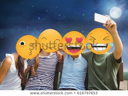 friends emoji face Stock photo © wavebreak_media