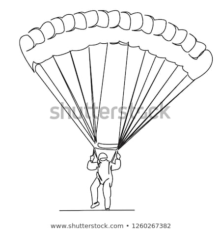 Doodle character for man parachute Stock photo © bluering