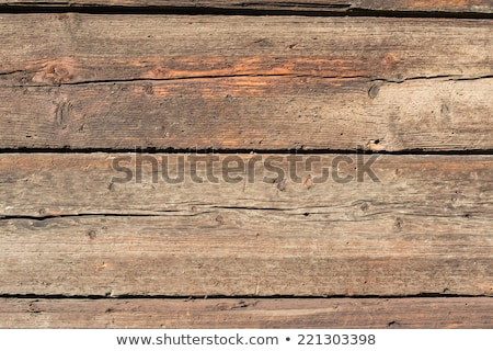 Foto stock: Rough Old Rustic Wooden Plank Background With Cracks